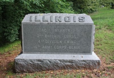 40th Illinois Marker image. Click for full size.
