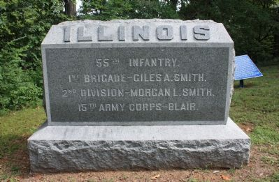 55th Illinois Marker image. Click for full size.