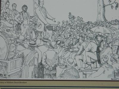 Drawing of Lincoln's Speech image. Click for full size.