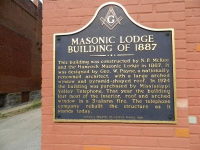 Masonic Lodge Building of 1887 Marker image. Click for full size.