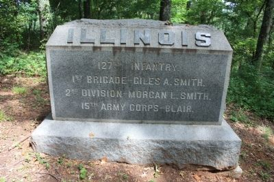 127th Illinois Marker image. Click for full size.
