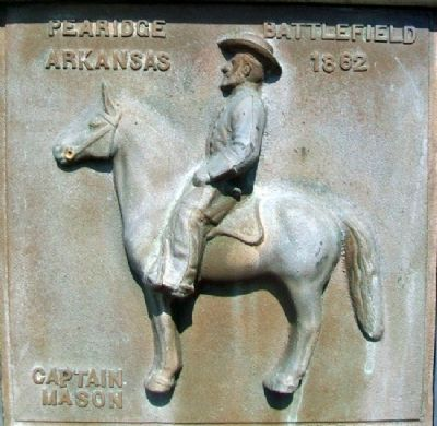 Captain Richard C. Mason Relief on Marker image. Click for full size.