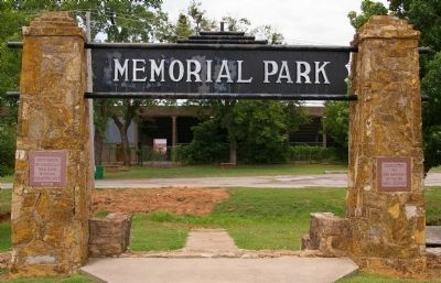 Memorial Park Gate image. Click for full size.