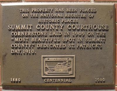 Summit County Courthouse Marker image. Click for full size.