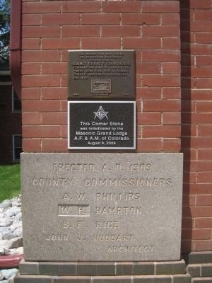 Summit County Courthouse Marker and Cornerstone image. Click for full size.