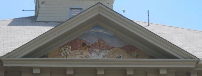 Mural detail on the back of the Summit County Courthouse image. Click for full size.