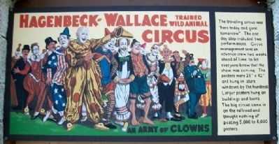Traveling Circus Posters Marker image. Click for full size.