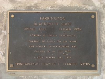 Farrington Blacksmith Shop Marker image. Click for full size.