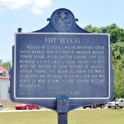 Fort Benning Marker (Side 1) image. Click for full size.