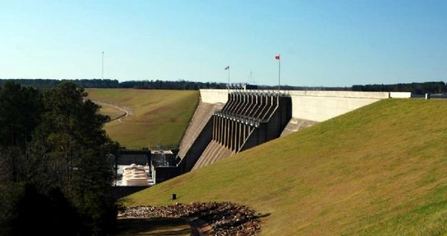Hartwell Dam<br>From Overlook Walkway<br>South Carolina Side image. Click for full size.
