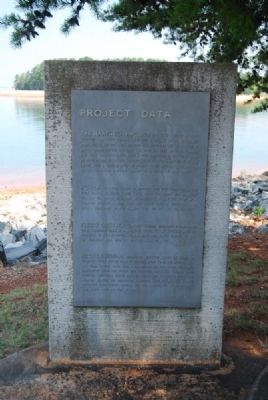 Hartwell Lake Marker<br>Left Inscription image. Click for full size.