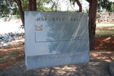 Hartwell Lake Marker<br>Center Inscription image. Click for full size.