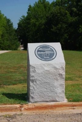 Hartwell Lake 50th Anniversary Marker<br>Georgia Side Near Dam Base image. Click for full size.