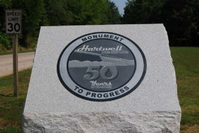 Hartwell Lake 50th Anniversary Marker image. Click for full size.