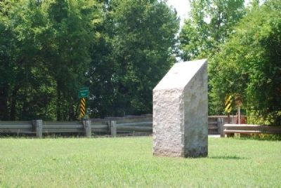Defaced Hartwell Marker<br>Its Inscriptions are Unknown<br>South Carolina Side image. Click for full size.