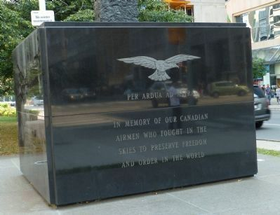 Canadian Airmen Monument: Marker Panel 1 image. Click for full size.