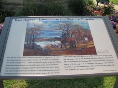 Bass Reeves - Lawman on the Western Frontier Marker image. Click for full size.