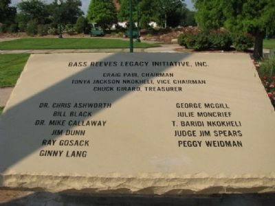 Bass Reeves - Donor Contribution Marker image. Click for full size.