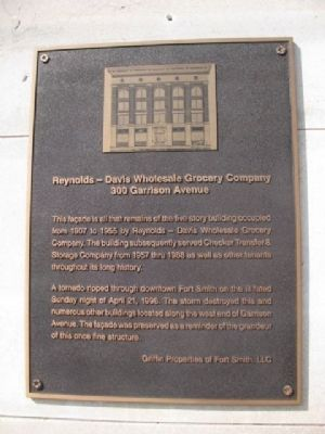 Reynolds - Davis Wholesale Grocery Company Marker image. Click for full size.