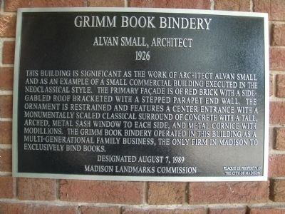 Grimm Book Bindery Marker image. Click for full size.