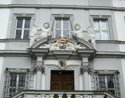 Iphofen City Hall - detail above entrance image. Click for full size.