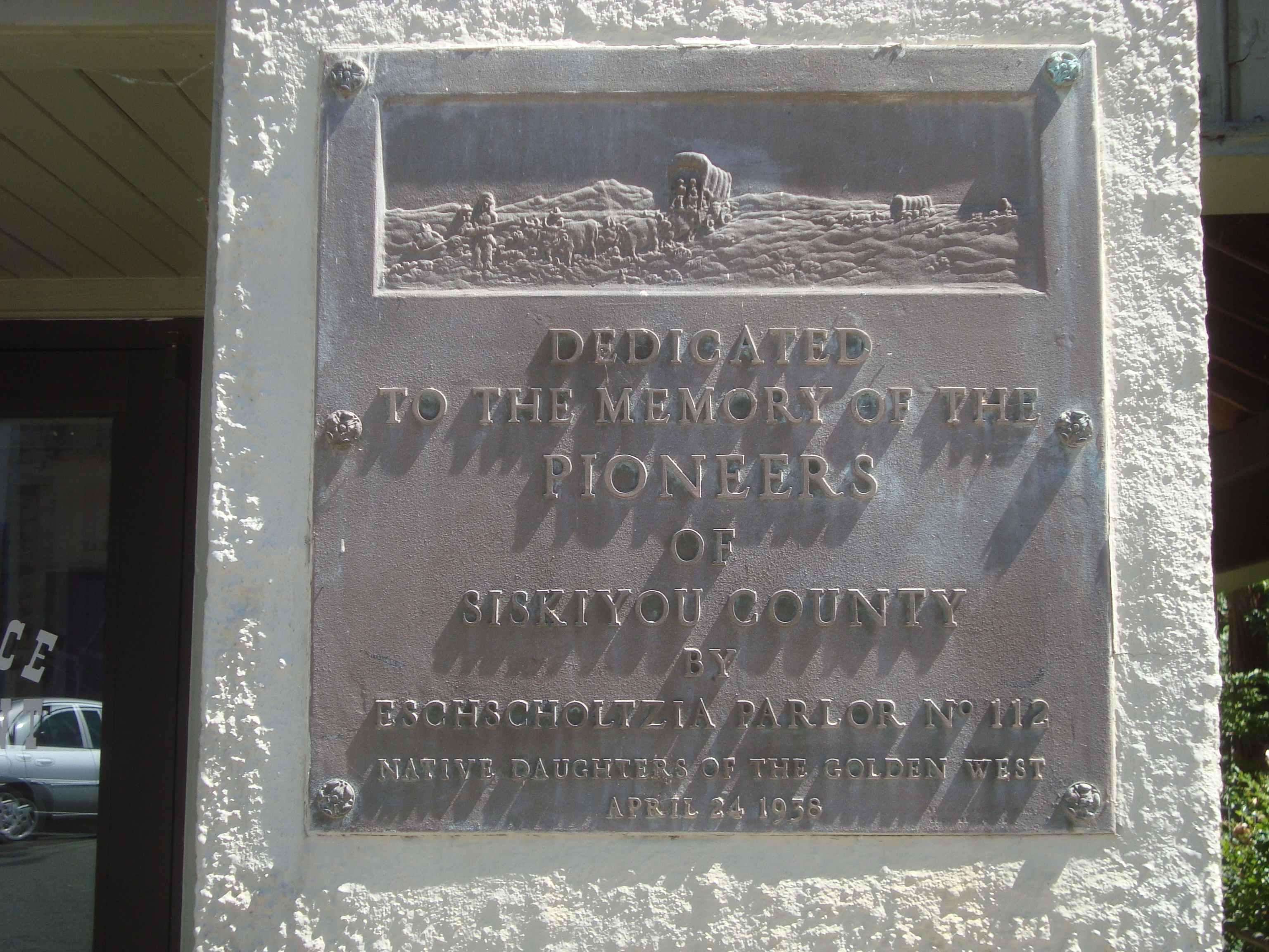 Native Daughers of the Golden West Plaque