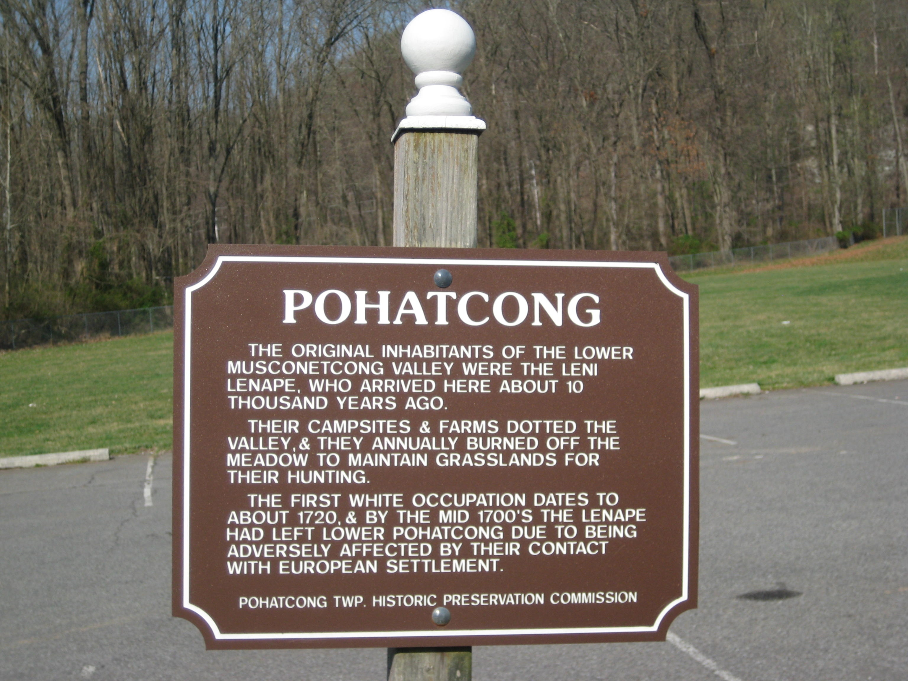 Pohatcong Marker
