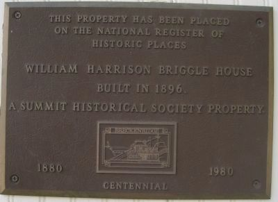 William Harrison Briggle House Marker image. Click for full size.