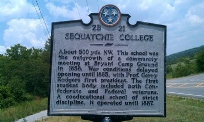 Sequatchie College Marker image. Click for full size.