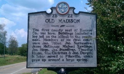 Old Madison Marker image. Click for full size.