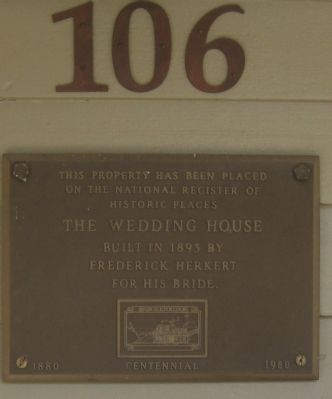 The Wedding House Marker image. Click for full size.