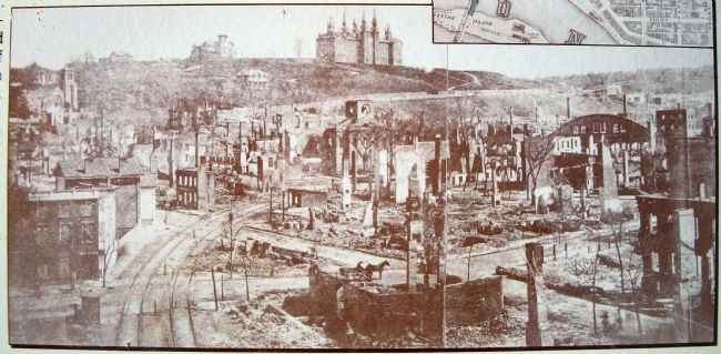 The Great Fire of 1862 - Marker Detail image. Click for full size.