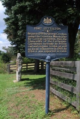 Fort Lyttelton Marker image. Click for full size.