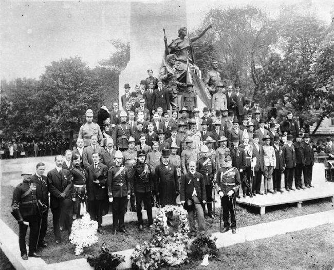 """South African War Memorial: Dedication 1908 [sic]"" image. Click for full size."