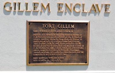 Fort Gillem Marker image. Click for full size.