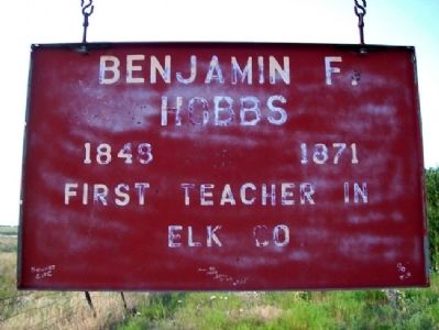 Benjamin F. Hobbs Sign image. Click for full size.