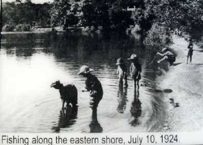 Fishing Photo on Hanscom Park Lagoon Marker image. Click for full size.