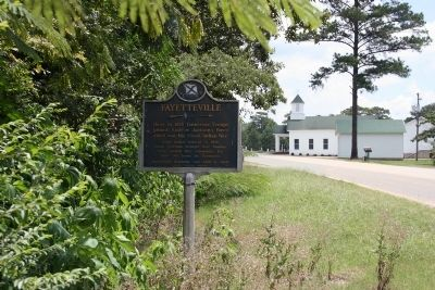 Fayetteville Marker Eastbound View image. Click for full size.