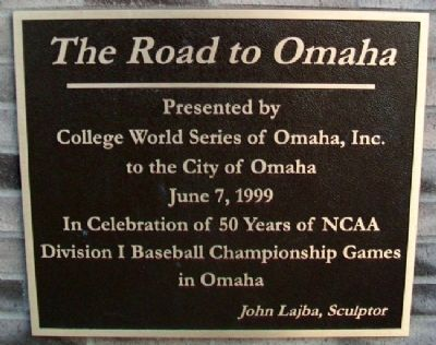The Road to Omaha Marker image. Click for full size.