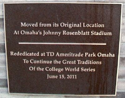 The Road to Omaha Rededication Marker image. Click for full size.