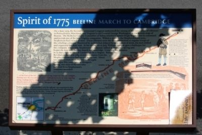 Spirit of 1775 Beeline March to Cambridge Marker image. Click for full size.
