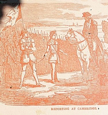 George Washington greeting Virginia riflemen image. Click for full size.