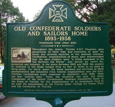 Old Confederate Soldiers and Sailors Home Marker-Side 2 image. Click for full size.