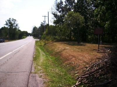 Joseph Morgan Marker as seen facing south on 383 image. Click for full size.