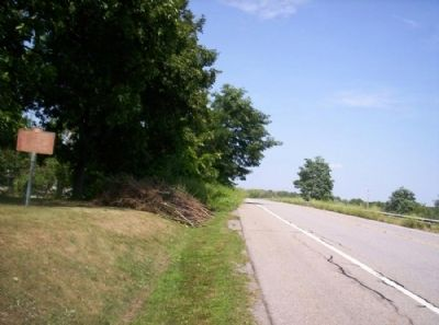 Joseph Morgan Marker as seen facing north on 383 image. Click for full size.