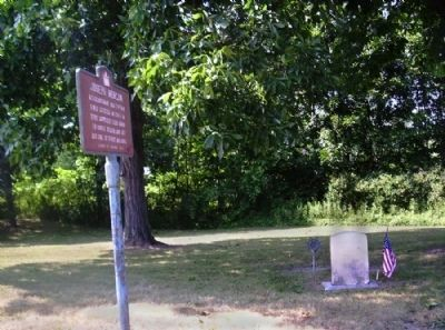 Joseph Morgan Marker and Grave image. Click for full size.