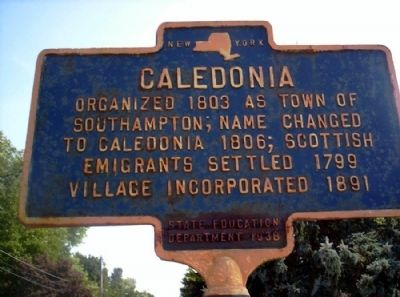 Caledonia Marker image. Click for full size.