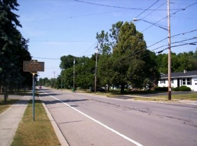 Caledonia Marker as seen facing north on North St. image. Click for full size.