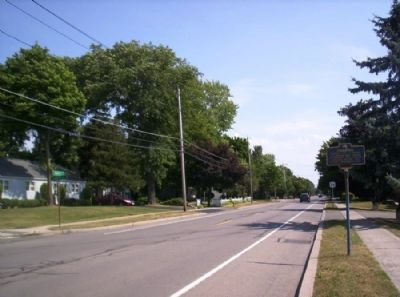 Caledonia Marker as seen facing south on North St. image. Click for full size.