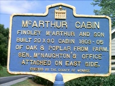 McArthur Cabin Marker image. Click for full size.